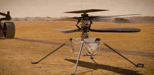 НАСА только что запустило свой марсианский вертолет