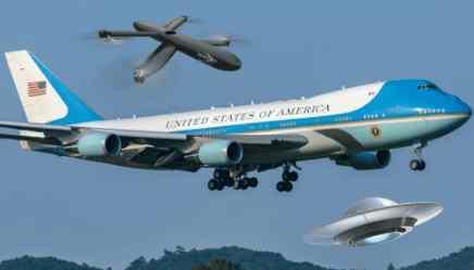 Борт президента США преследовал БПЛА