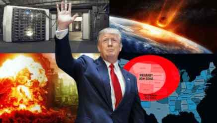 Трамп срочно на время спрятался в бункер