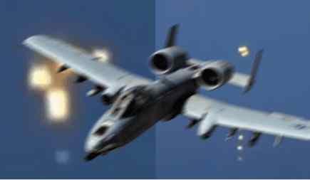 A-10 пытается атаковать НЛО