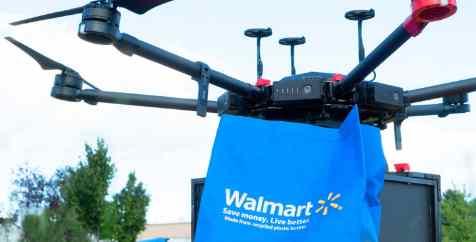 walmart только начал поставлять товары с помощью дронов
