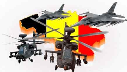 На Бельгию налетело армада вертолетов и самолетов
