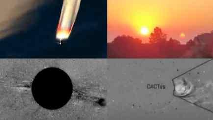 Возле Солнца реально болтается что-то круглое
