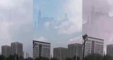 Китай шокирован появление в небе замка Гарри Поттера