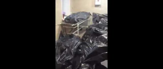Появилось видео из российского морга, забитого трупами коронавирусных больных