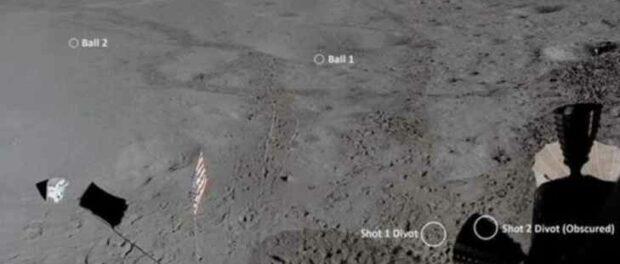 Обновленные изображения показывают, как далеко Алан Шепард ударил мяч для гольфа на Луне